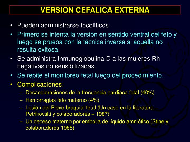 VERSION CEFALICA EXTERNA