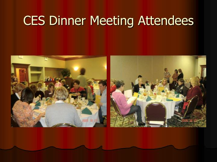 CES Dinner Meeting Attendees