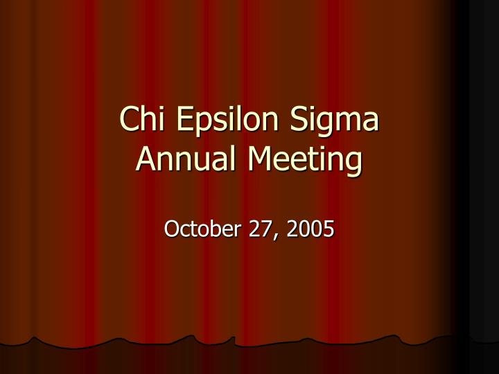 Chi epsilon sigma annual meeting