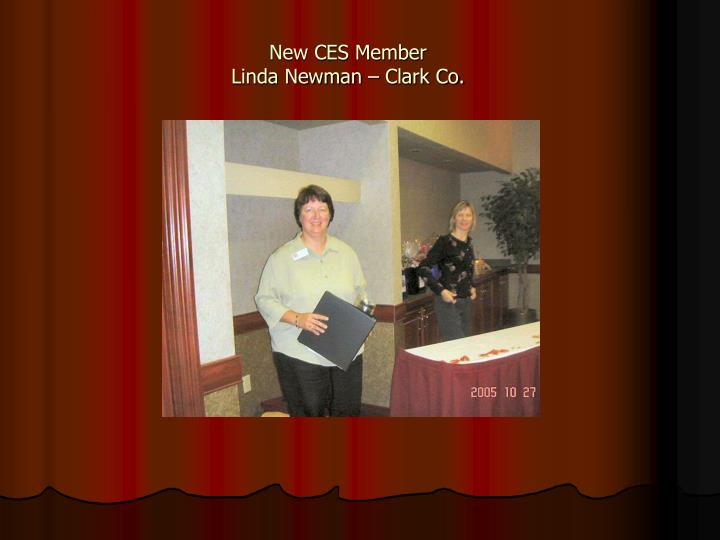 New CES Member