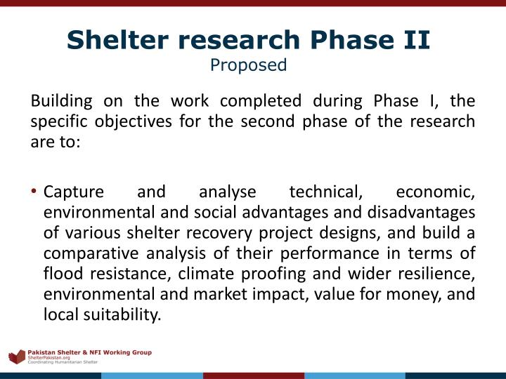Building on the work completed during Phase I, the specific objectives for the second phase of the research are to: