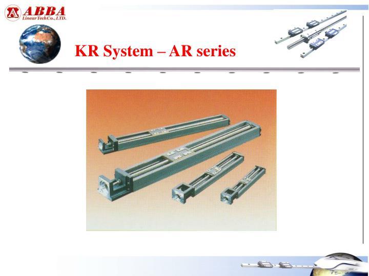 KR System – AR series