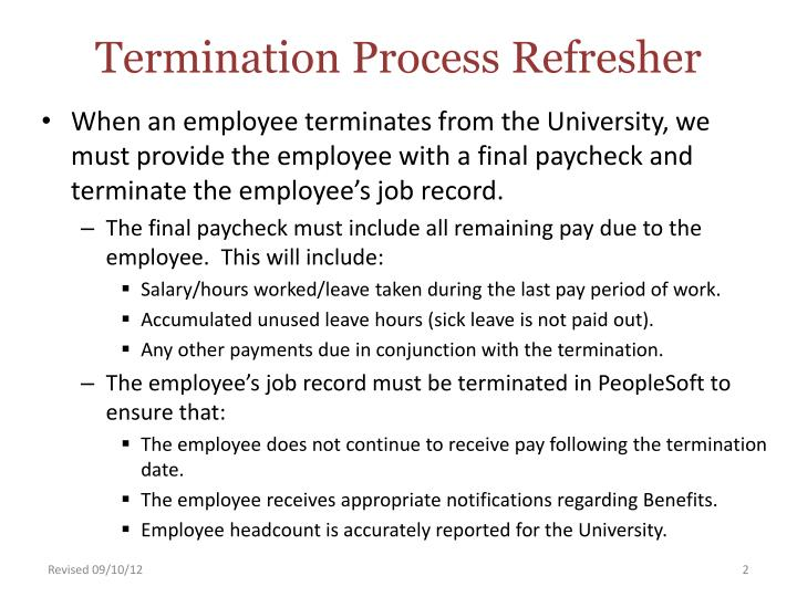 Termination process refresher1
