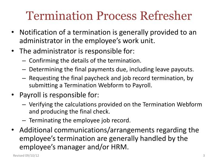 Termination process refresher2