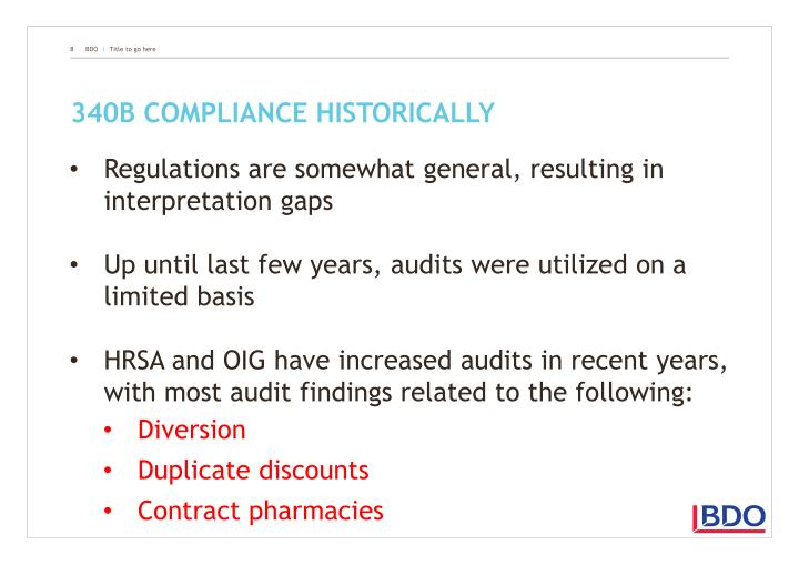 340B compliance historically