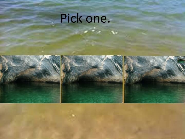 Pick one.