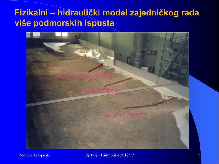 Fizikalni – hidraulički model zajedničkog rada