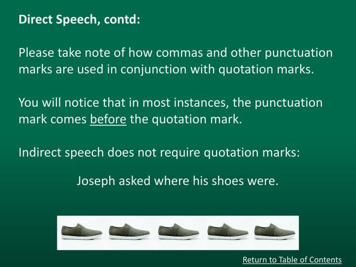 Direct Speech,