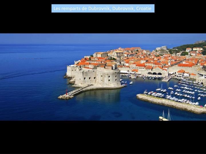 Les remparts de Dubrovnik, Dubrovnik, Croatie