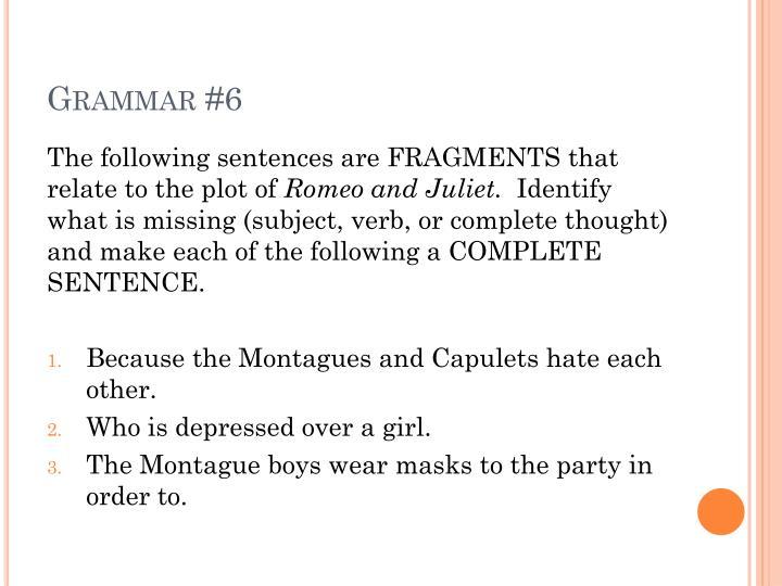 Grammar #6