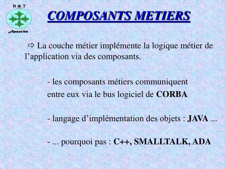 COMPOSANTS METIERS