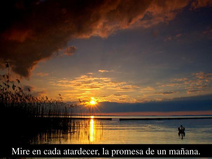 Mire en cada atardecer, la promesa de un mañana.