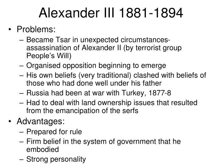 Alexander III 1881-1894