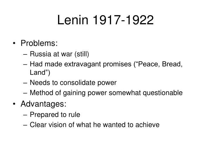 Lenin 1917-1922