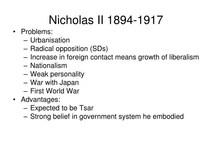 Nicholas II 1894-1917