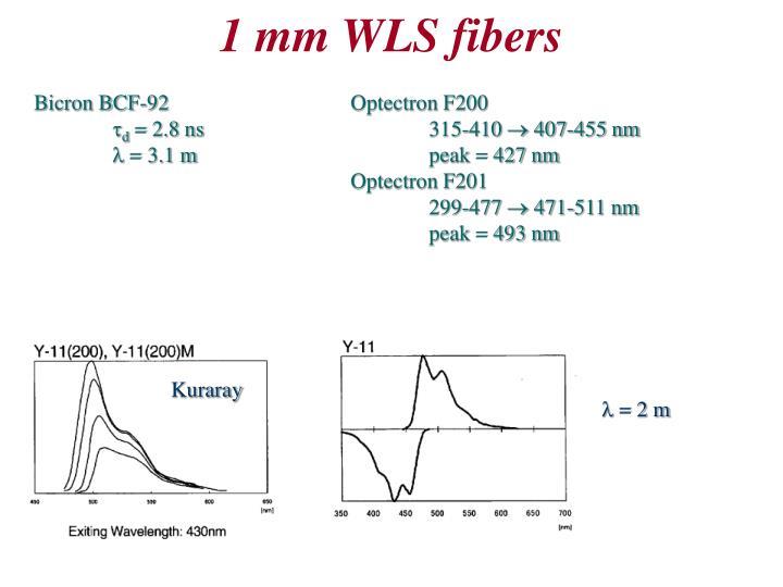 1 mm WLS fibers