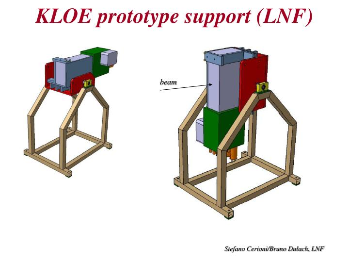 KLOE prototype support (LNF)