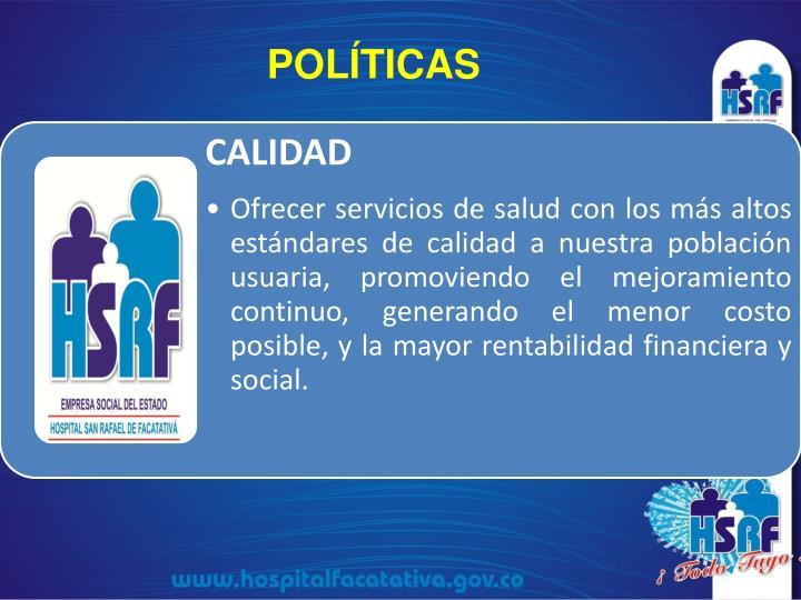 POLÍTICAS