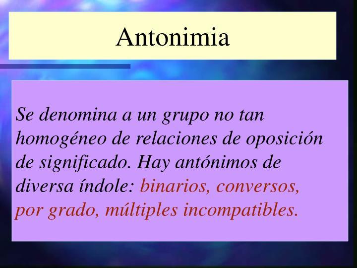 Antonimia