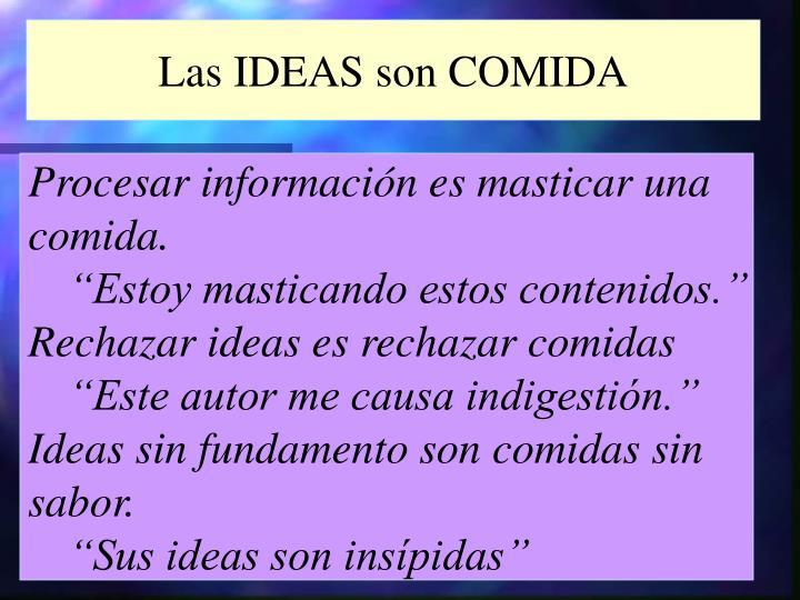 Las IDEAS son COMIDA