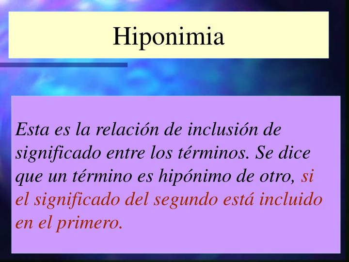 Hiponimia