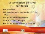 la commission de travail territoriale