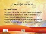 un projet national