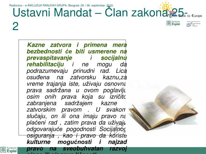 Ustavni Mandat