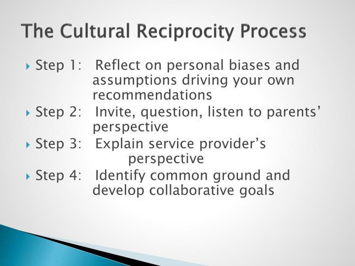 The Cultural Reciprocity Process