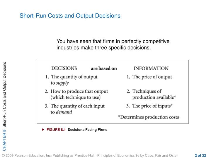 Short-Run Costs and Output Decisions
