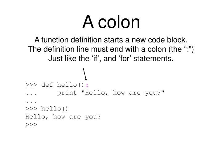 A colon
