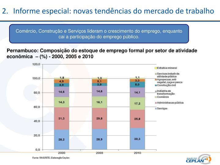 Informe especial: novas tendências do mercado de trabalho
