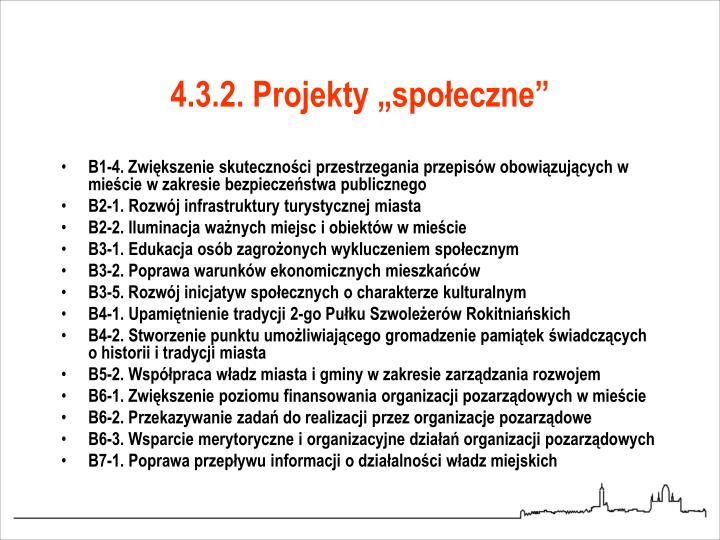 """4.3.2. Projekty """"społeczne"""""""