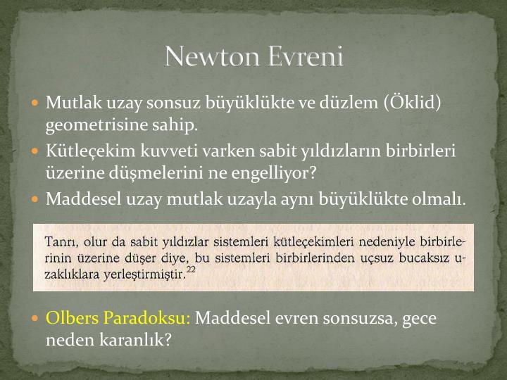 Newton Evreni