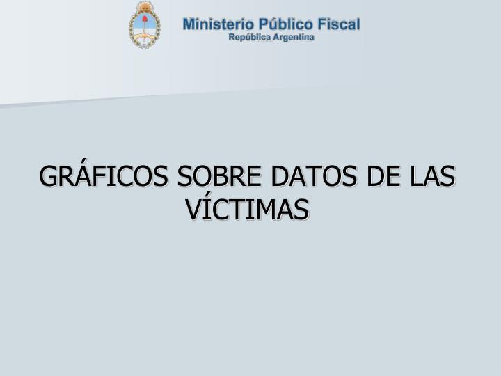 GRÁFICOS SOBRE DATOS DE LAS VÍCTIMAS