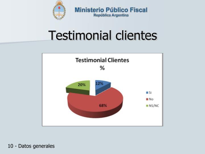 Testimonial clientes