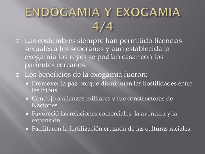ENDOGAMIA Y EXOGAMIA 4/4