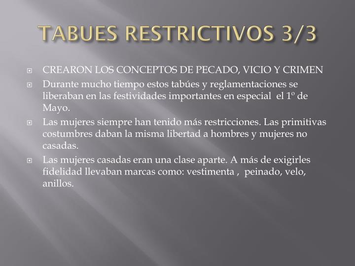 TABUES RESTRICTIVOS 3/3