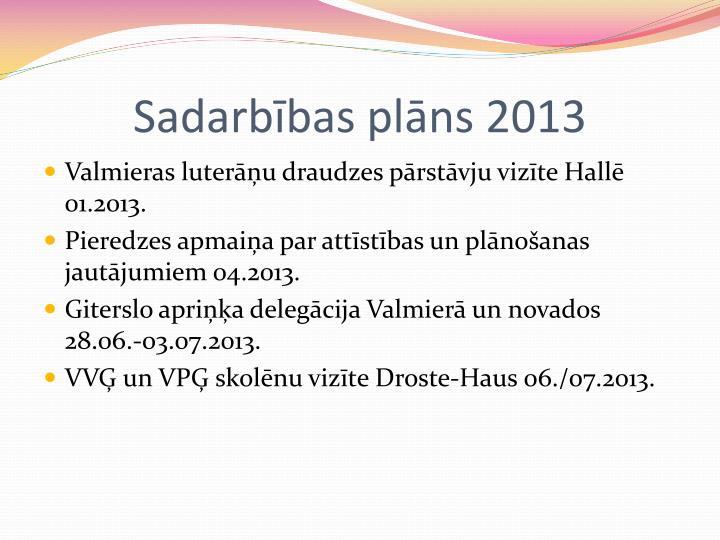 Sadarbības plāns 2013