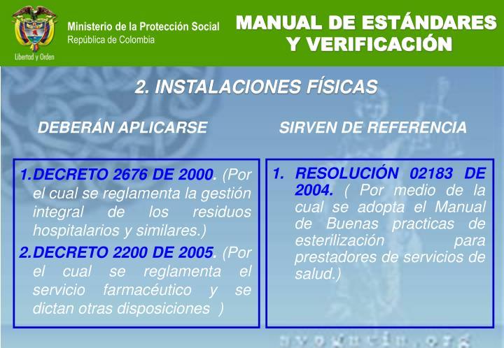 DECRETO 2676 DE 2000
