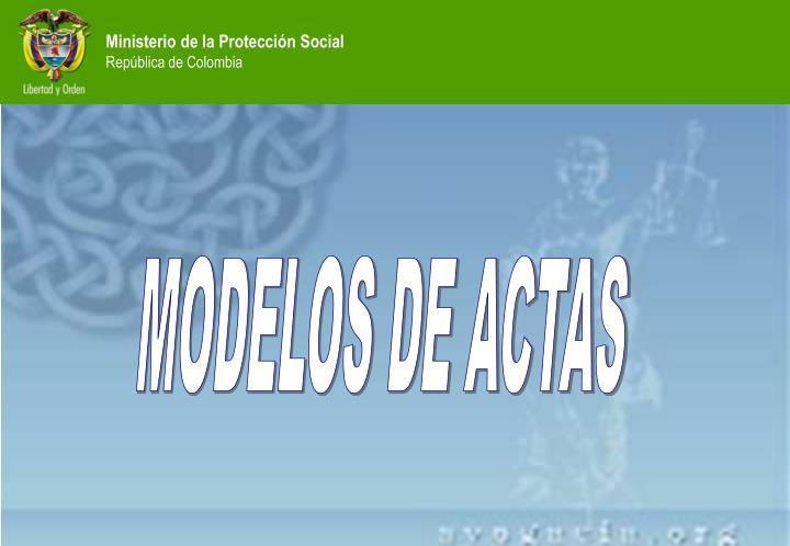 MODELOS DE ACTAS