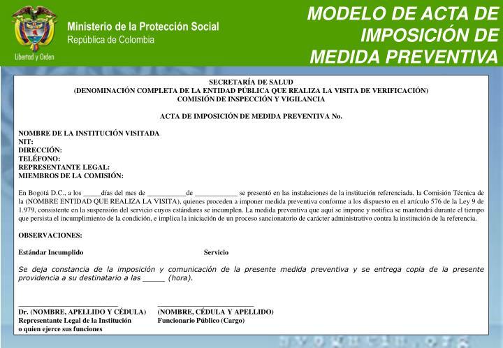 MODELO DE ACTA DE