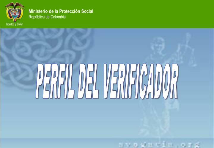 PERFIL DEL VERIFICADOR