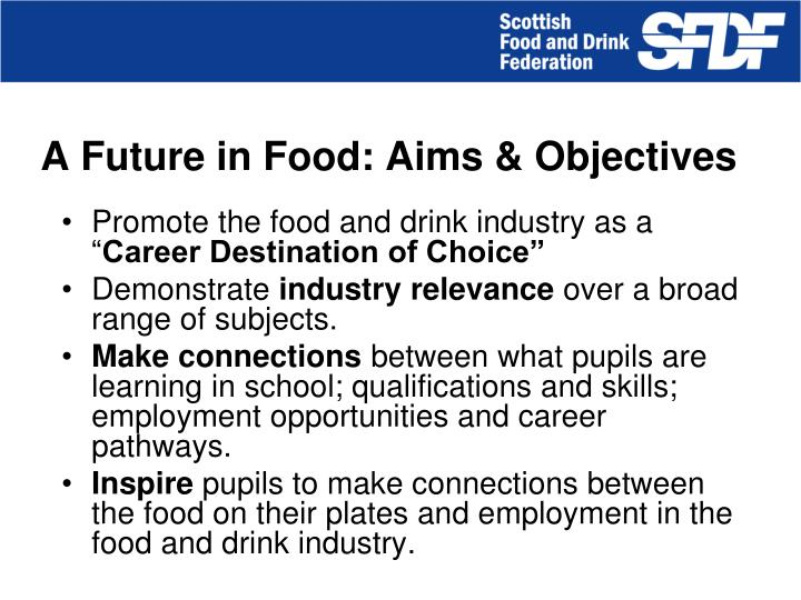 A Future in Food: Aims & Objectives