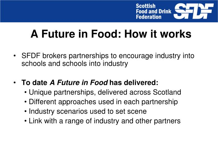 A Future in Food: How it works