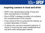 inspiring careers in food and drink