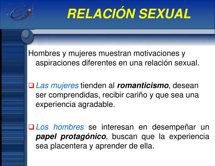 RELACIÓN SEXUAL