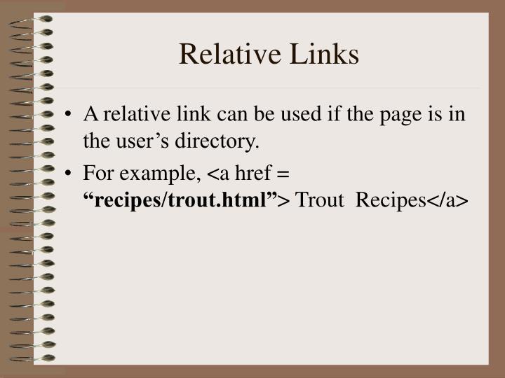 Relative Links