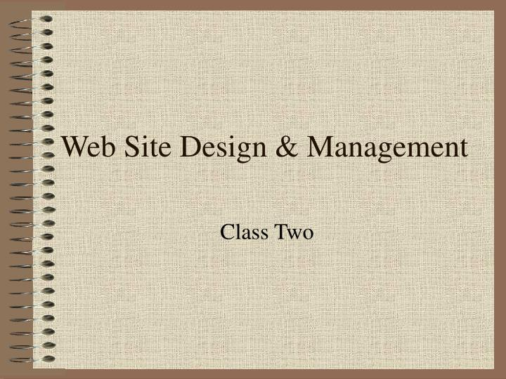 Web site design management