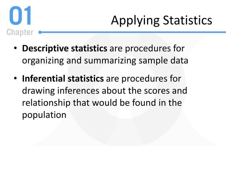 Applying Statistics
